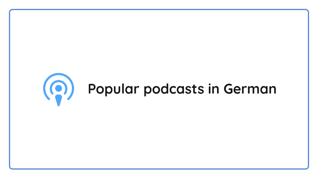 podcasts in German