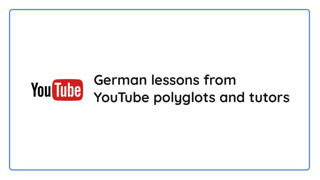 German lessons on youtube