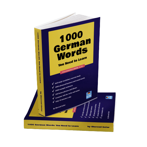 1000 German words you need to learn - book cover.